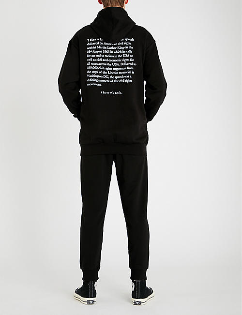 THROWBACK Martin Luther King-print cotton-jersey hoody