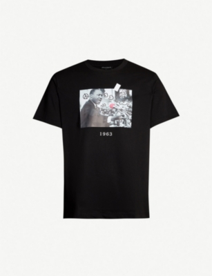 THROWBACK Luther King-print cotton-jersey T-shirt