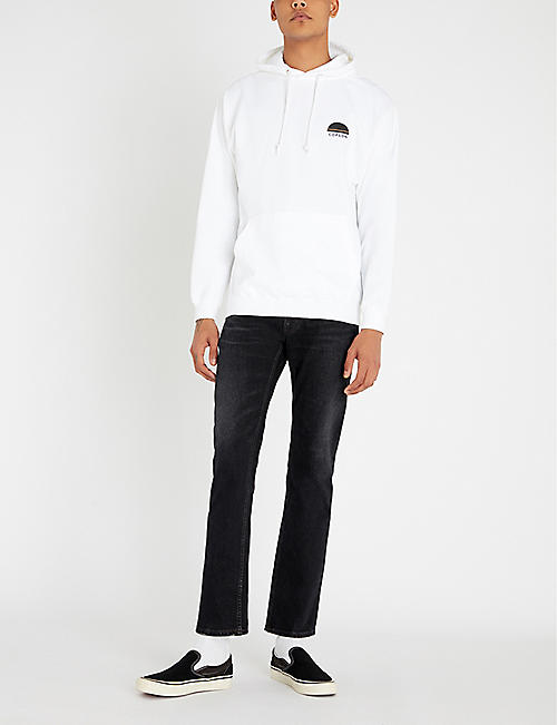 COPSON Logo-embroidered cotton-blend hoody