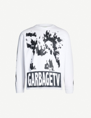 GARBAGE TV Roberts Dream graphic-print cotton-jersey T-shirt