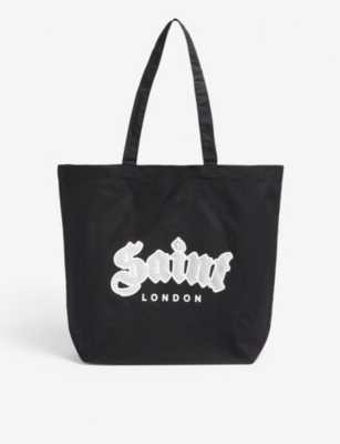 SAINT LONDON Saint tote logo