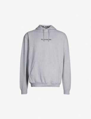FAMT It's Not Too Late cotton-blend hoody