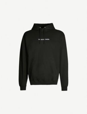 FAMT No Social Media cotton-blend hoody