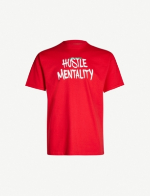 GREATNESS Hustle Mentality slogan-print cotton-jersey T-shirt