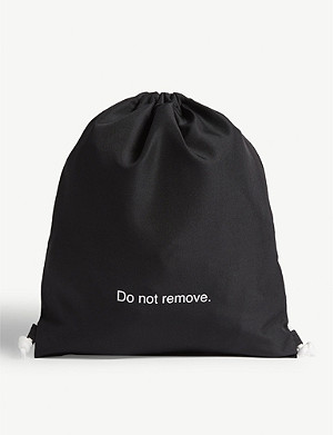 FAMT Do Not Remove drawstring bag