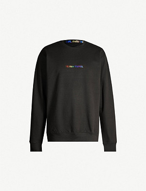 FAMT No new friends cotton-blend sweatshirt