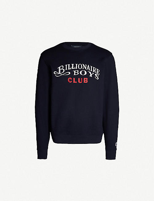 6baac81ff4f BILLIONAIRE BOYS CLUB Logo-embroidered cotton-jersey sweatshirt