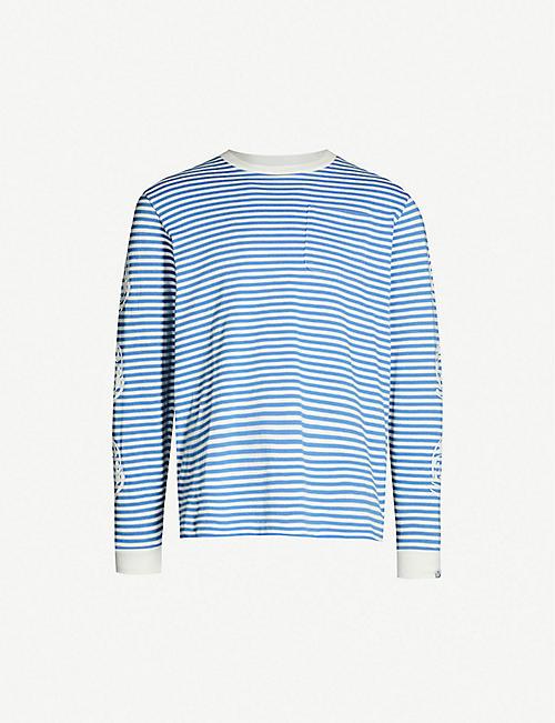 BILLIONAIRE BOYS CLUB Striped crewneck cotton-jersey T-shirt. Quick view  Wish list 012b4ecb6