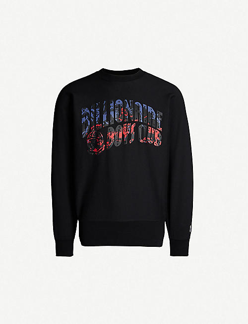 BILLIONAIRE BOYS CLUB Horsepower logo cotton-jersey sweatshirt 38e8bb48fe8