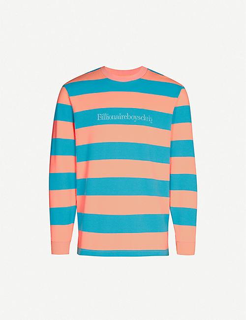 395d49161 BILLIONAIRE BOYS CLUB Striped logo-print cotton top
