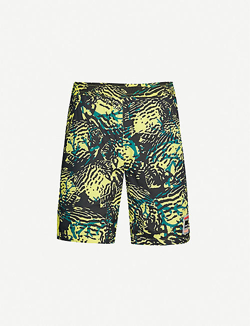 2838cf346ff BILLIONAIRE BOYS CLUB Fish camouflage-print shell shorts