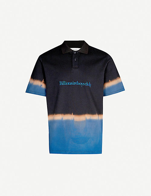 d73a4e18232e5 BILLIONAIRE BOYS CLUB Bleached logo-print cotton polo shirt