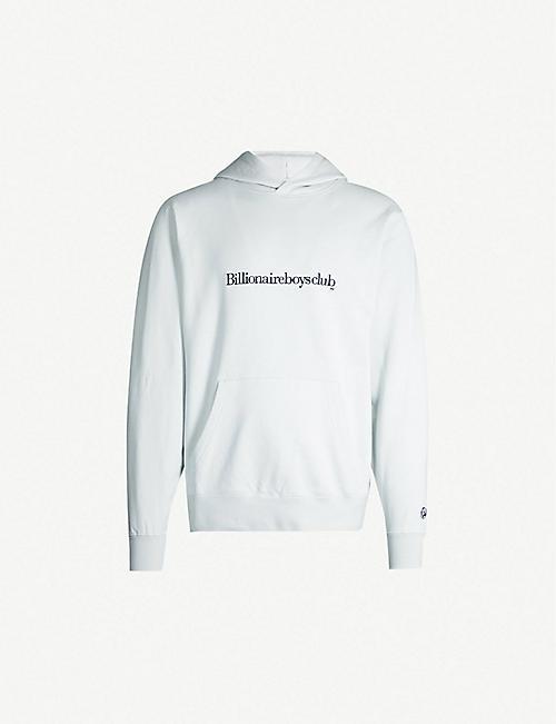 93d60ed10 BILLIONAIRE BOYS CLUB Logo-embroidered cotton hoody