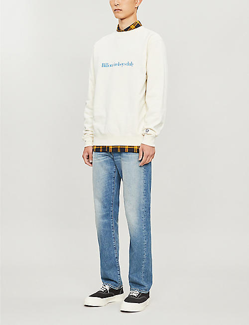BILLIONAIRE BOYS CLUB Logo-embroidered cotton sweatshirt