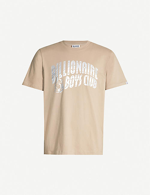 a23909915 BILLIONAIRE BOYS CLUB Metallic-logo cotton T-shirt