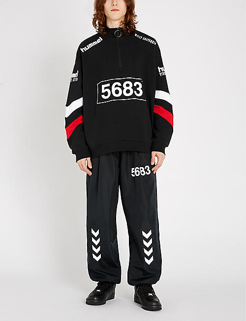 HUMMEL Hummel x Willy Chavarria graphic-print shell jogging bottoms