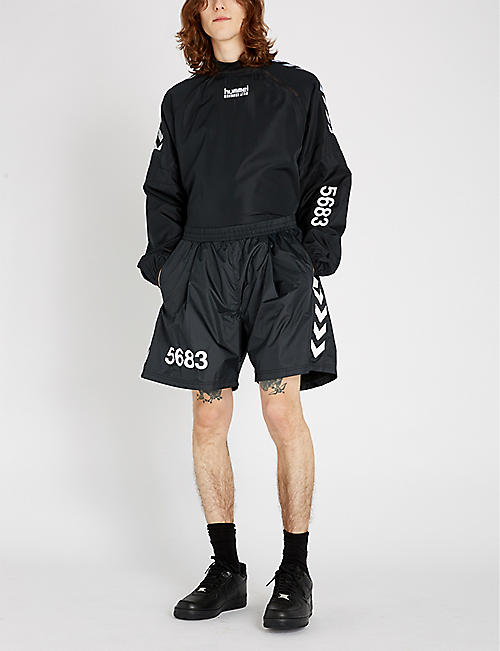 HUMMEL Hummel x Willy Chavarria relaxed-fit shell shorts