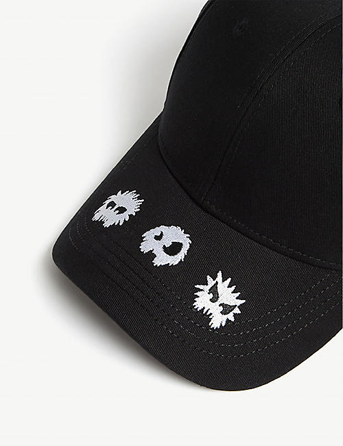 MCQ ALEXANDER MCQUEEN Monsters cotton snapback cap