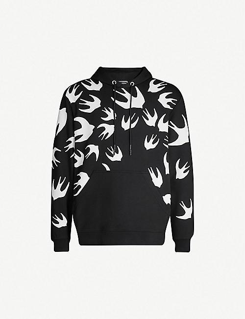 4593376382 MCQ ALEXANDER MCQUEEN Swallow-print cotton hoody