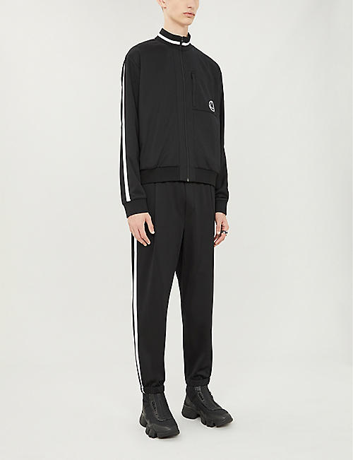 MCQ ALEXANDER MCQUEEN Relaxed-fit striped-side woven jogging bottoms