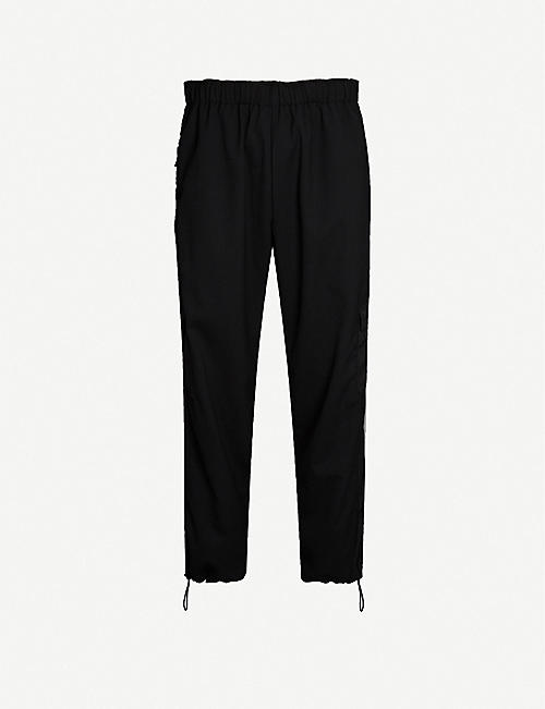 MCQ ALEXANDER MCQUEEN Patch-pocket relaxed-fit straight shell trousers