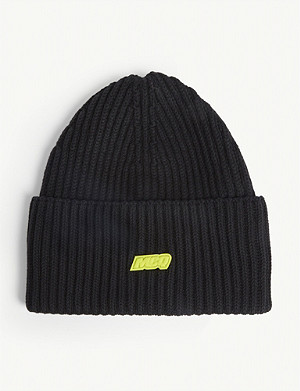 MCQ ALEXANDER MCQUEEN Ribbed beanie hat