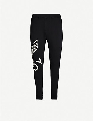 BOY LONDON: Graphic-print cotton-jersey jogging bottoms