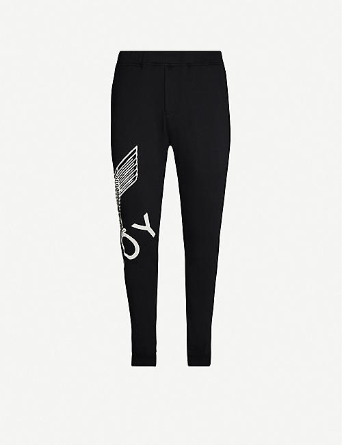 BOY LONDON Graphic-print cotton-jersey jogging bottoms