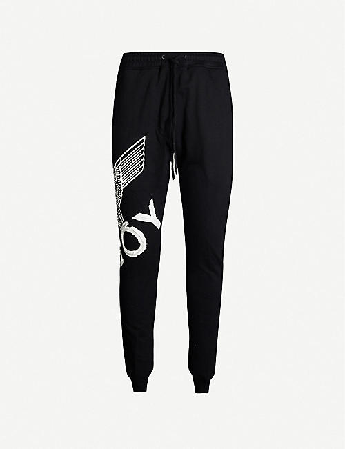 BOY LONDON Eagle-print cotton jogging bottoms