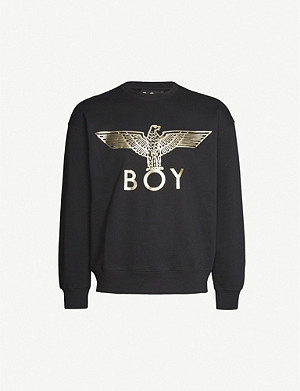 BOY LONDON Graphic-print cotton-jersey sweatshirt