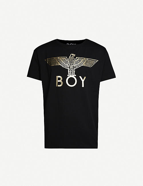 BOY LONDON Metallic logo-print cotton-jersey T-shirt