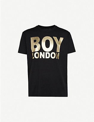 BOY LONDON: Logo-print cotton-jersey T-shirt