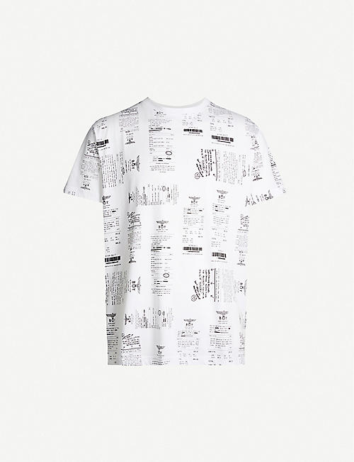 BOY LONDON Receipt-print cotton-jersey T-shirt
