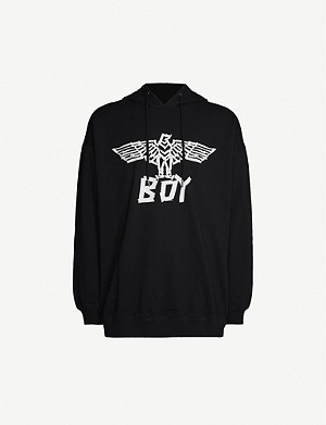 BOY LONDON Logo-print cotton-jersey hoody