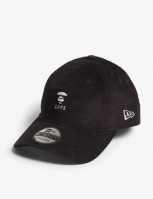 eda21c44e3f AAPE Logo-print corduroy baseball cap