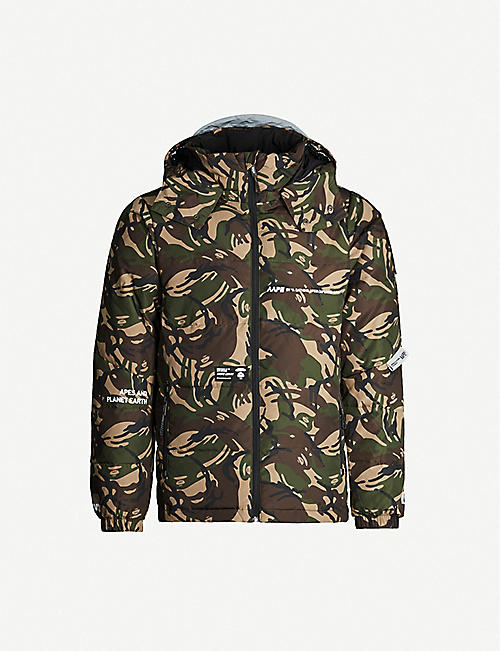 AAPE Reversible camouflage-print shell-down jacket