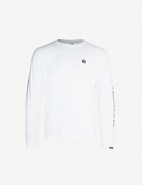 AAPE Logo-embroidered cotton top