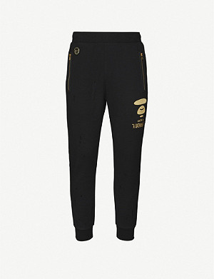 AAPE Logo-print stretch-jersey jogging bottoms