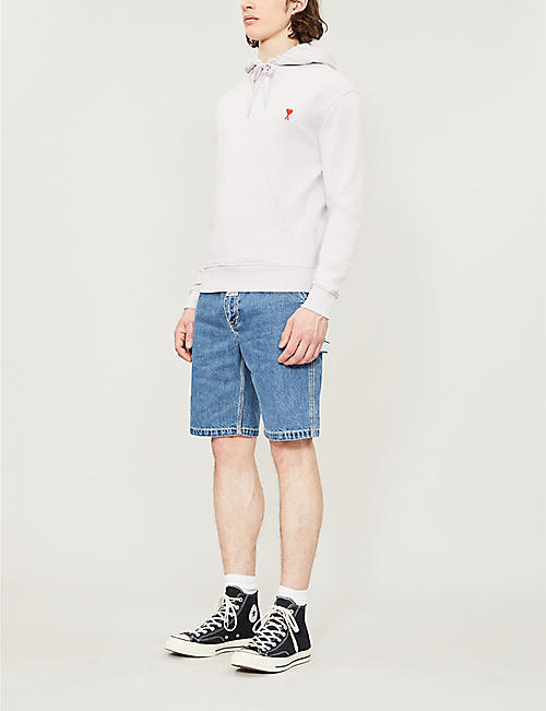 AAPE Logo-embroidered denim shorts