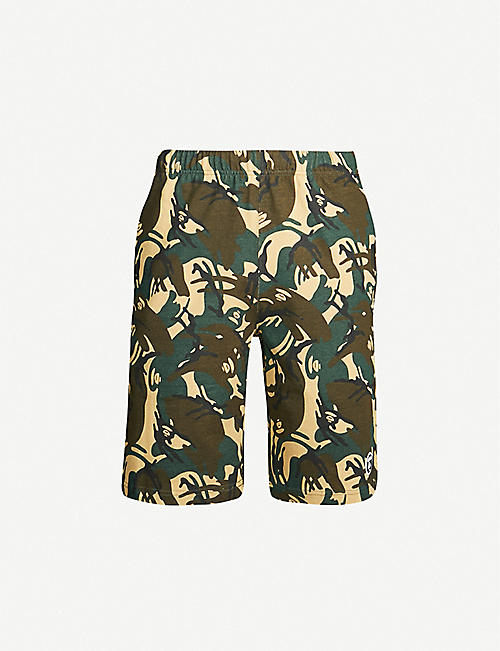 AAPE Camouflage-print cotton-jersey shorts