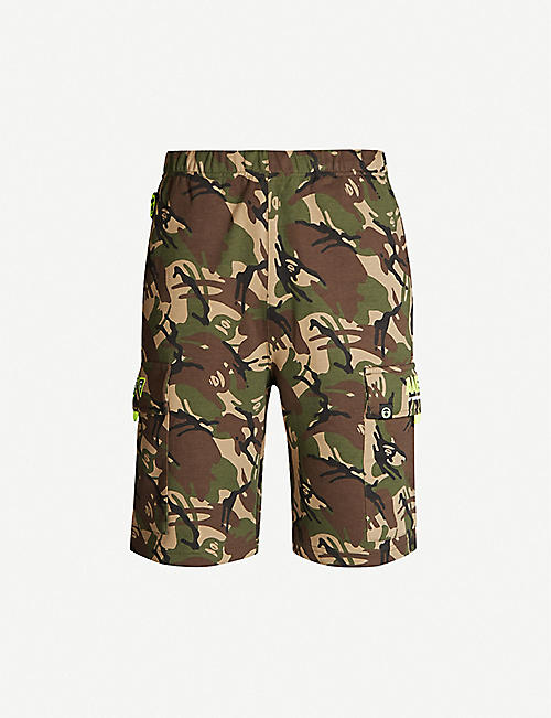 AAPE Camouflage-print cotton-blend jersey shorts