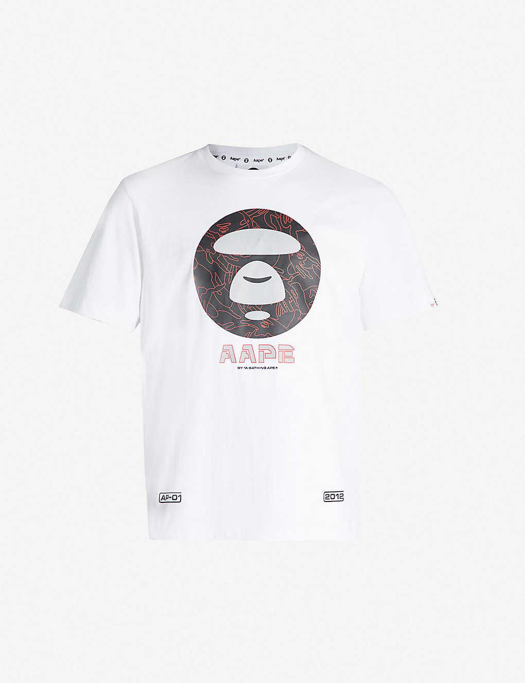796f9935d93c Branded cotton T-shirt - White ...