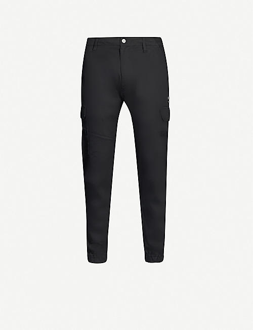 IZZUE Mid-rise stretch-cotton trousers