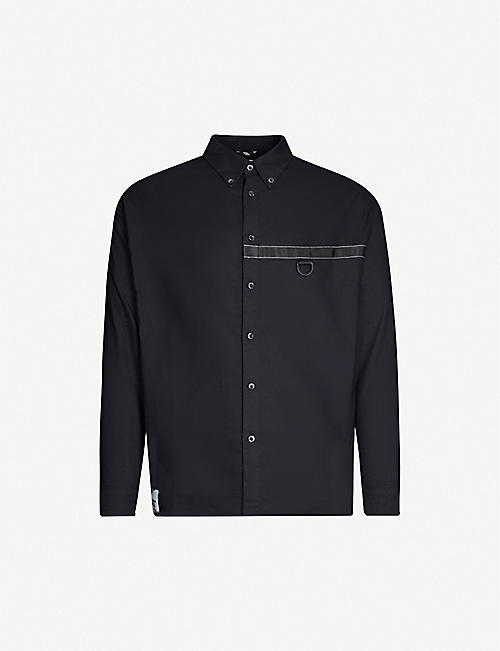 IZZUE Embellished regular fit cotton shirt