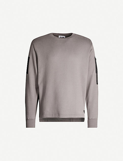 IZZUE Patch cotton-jersey sweatshirt