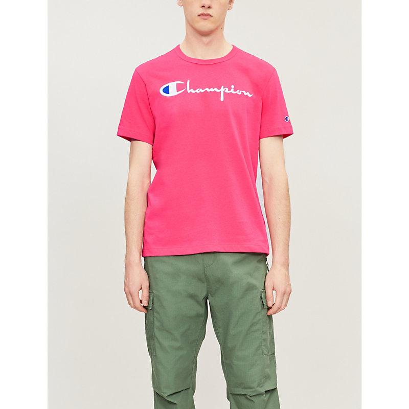 Champion T-shirts LOGO-EMBROIDERED COTTON-JERSEY T-SHIRT