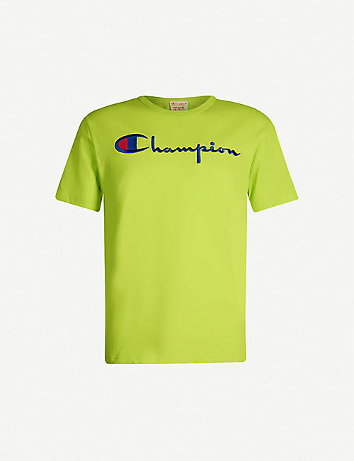 283643083952 CHAMPION Logo-embroidered cotton-jersey T-shirt
