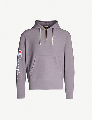 c9f4929a574b CHAMPION · Logo-embroidered cotton-jersey hoody