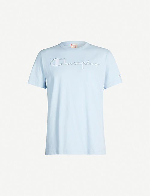 0838a7314ae2 CHAMPION Logo-embroidered cotton-jersey T-shirt