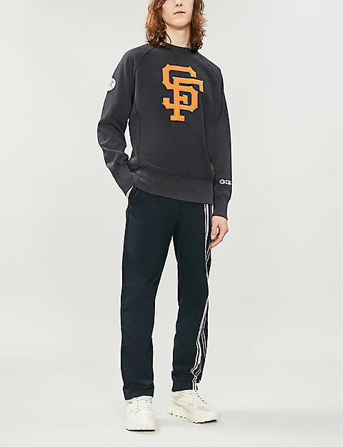 CHAMPION x MLB San Francisco Giants logo cotton-jersey sweatshirt